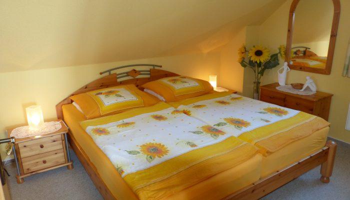 Wohnung 2 - das Schlafzimmer