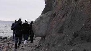 Gefährliche Wanderung an der Steilküste