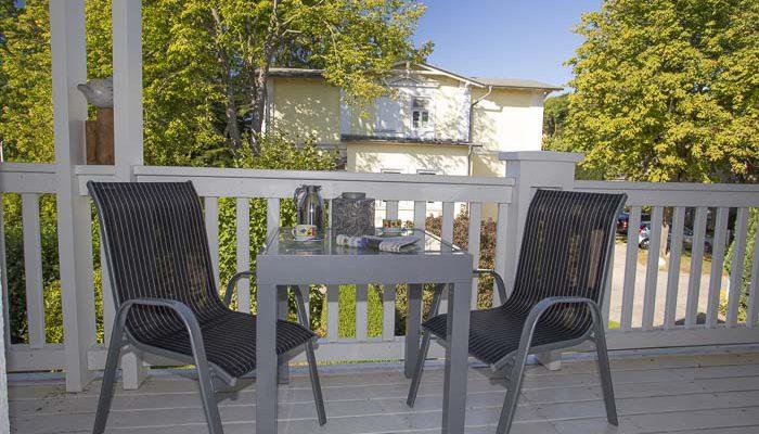 Wohnung 1 auf dem Balkon