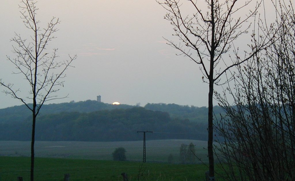 Sonnenuntergang über der Granitz